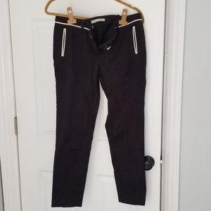 Jason wu black pants with white trim
